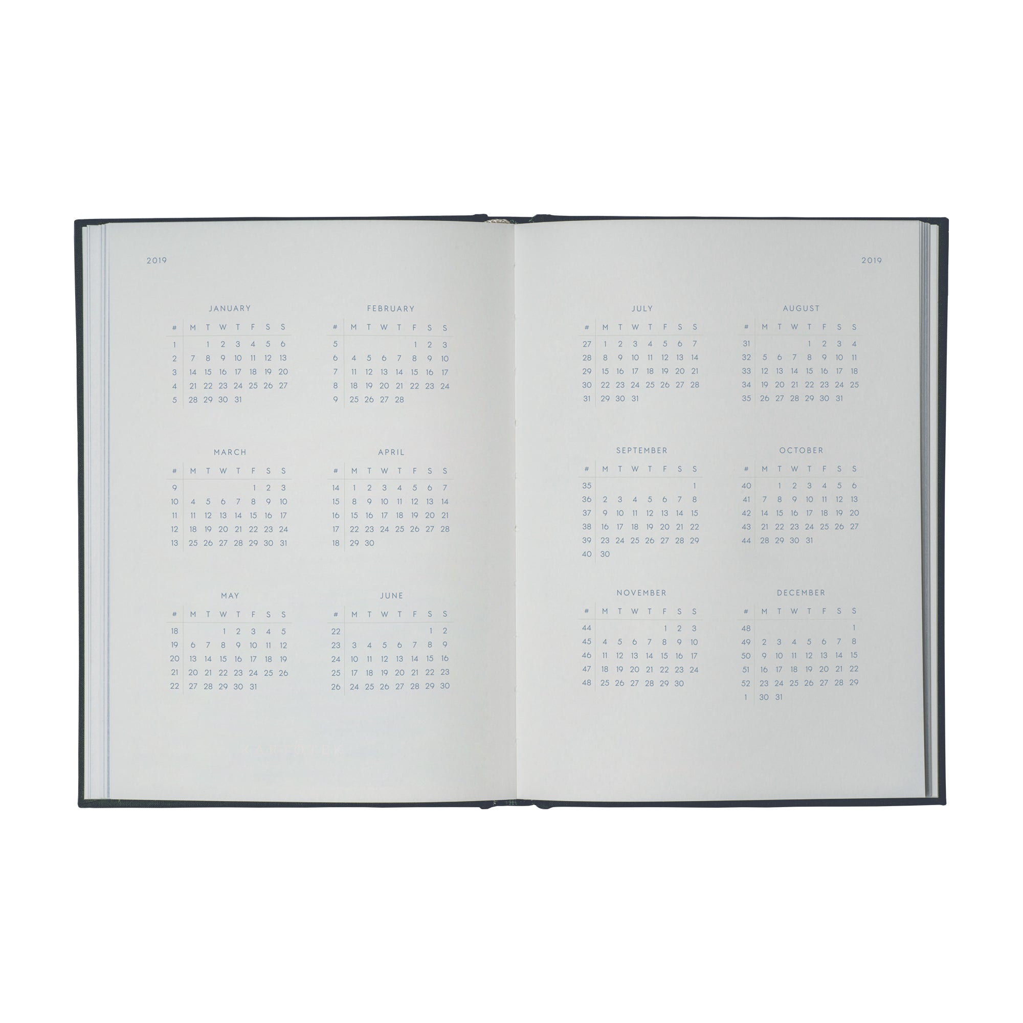 NOTEBOOK CALENDAR 2019 (50% OFF)