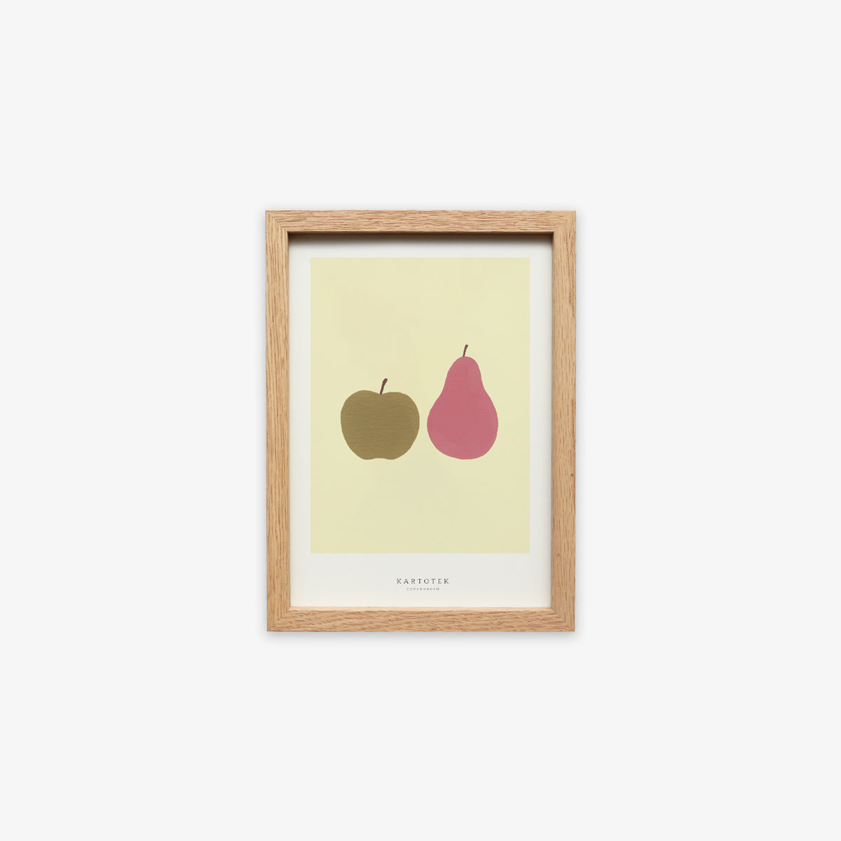 OAK WOOD FRAME + CARD A5 // APPLE AND PEAR