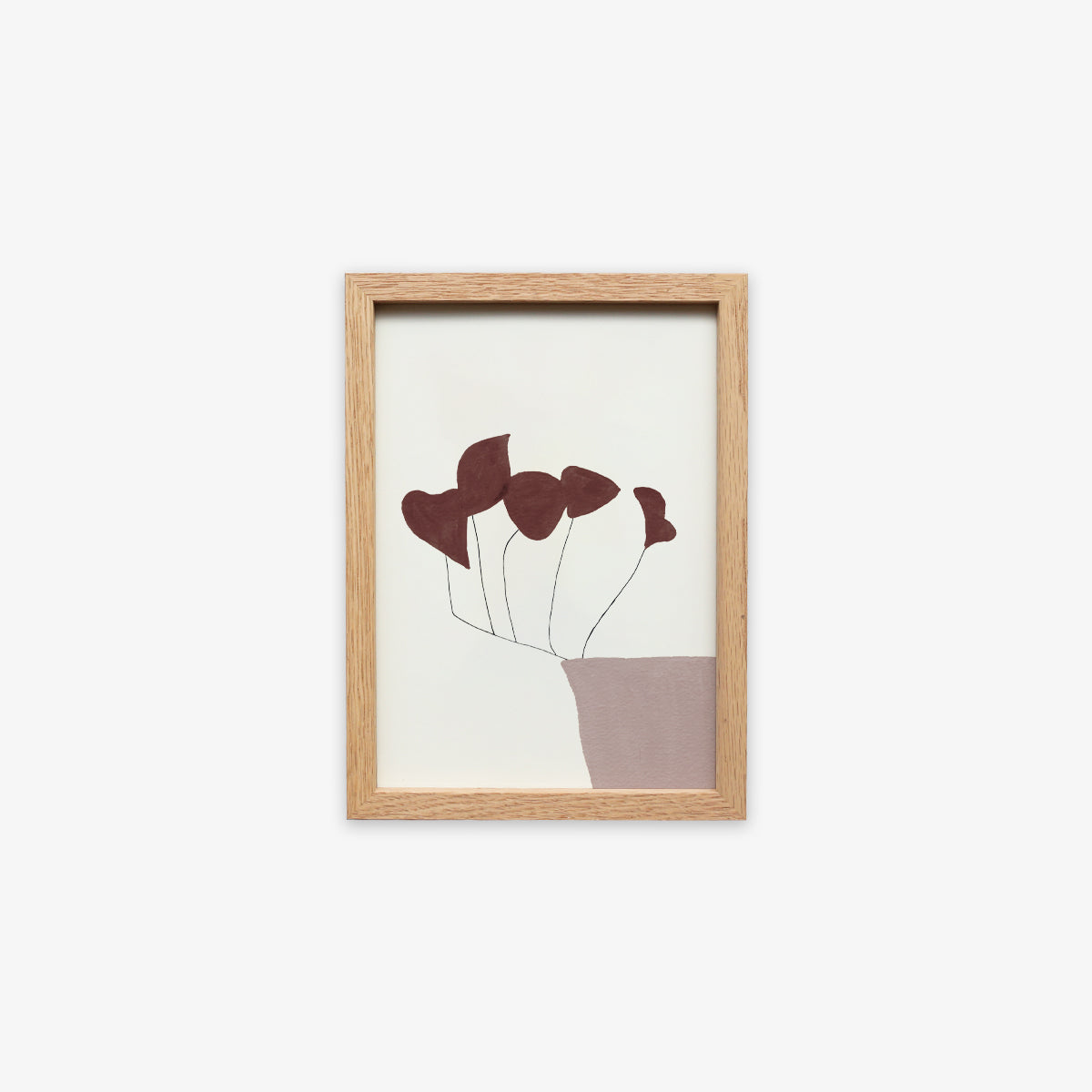 OAK WOOD FRAME + CARD A5 // CALM
