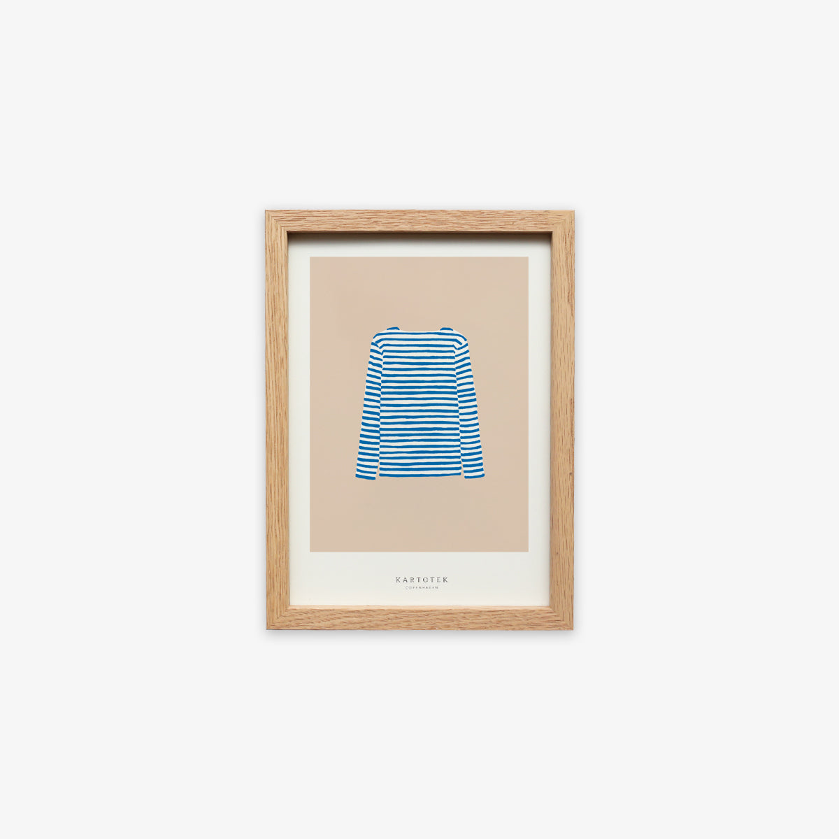 OAK WOOD FRAME + CARD A5 // SWEATER BLUE