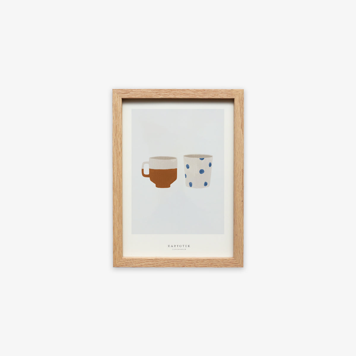 OAK WOOD FRAME + CARD A5 // TWO CUPS