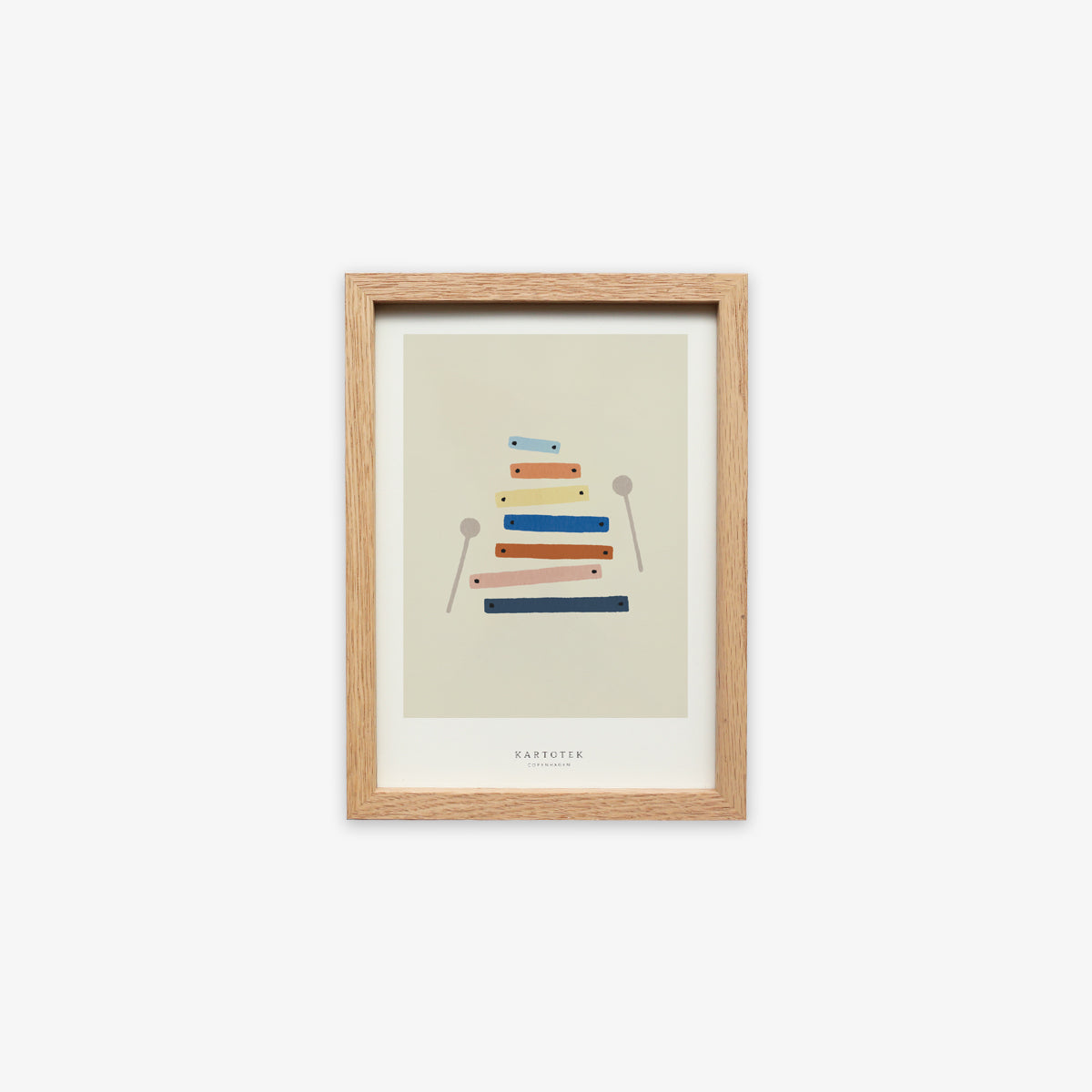 OAK WOOD FRAME + CARD A5 // XYLOPHONE