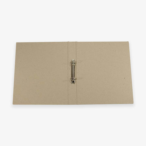 RING BINDER A4 // RECYCLED GREY CARDBOARD