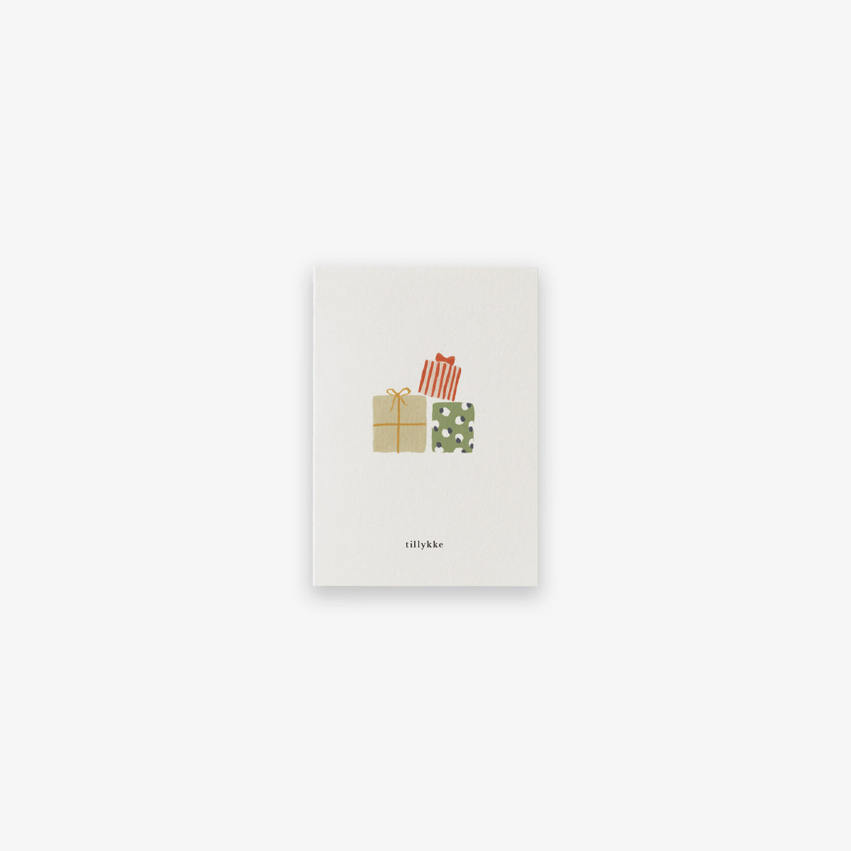 SMALL GREETING CARD // GIFT STACK