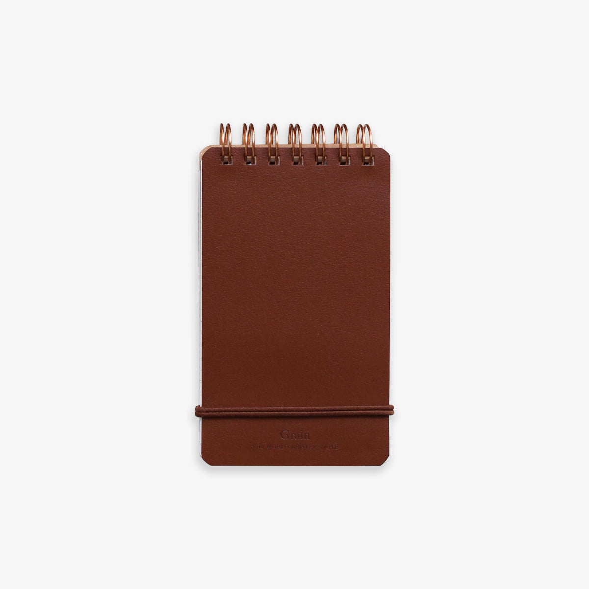 SPIRAL BOUND NOTEPAD // BROWN