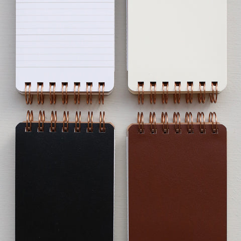SPIRAL BOUND NOTEPAD // BLACK