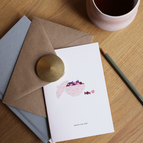 GREETING CARD // CANDY BOWL