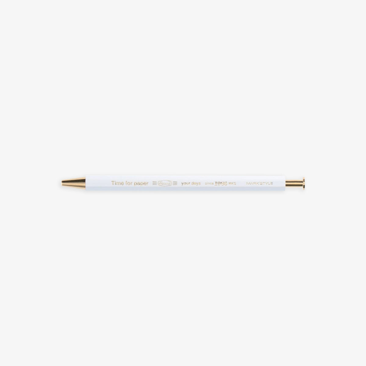 TIME FOR PAPER PENCIL BALL GEL PEN 0.5mm // WHITE