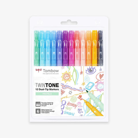 TWINTONE DUAL-TIP MARKER PENS // SET OF 12