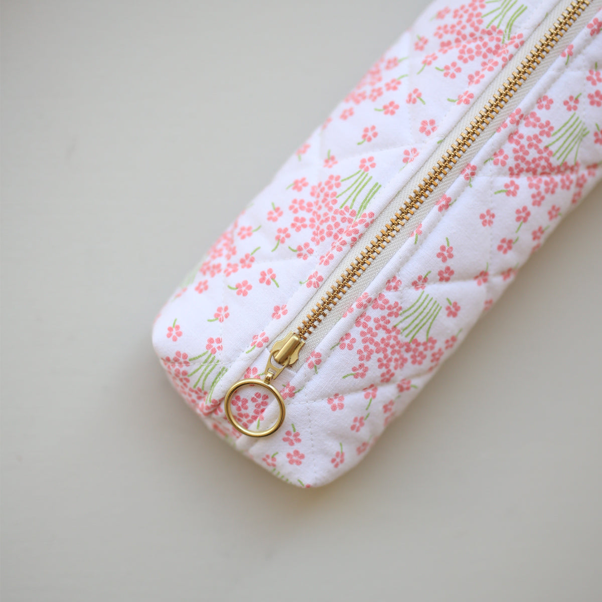 PEN CASE // PINK FLOWERS
