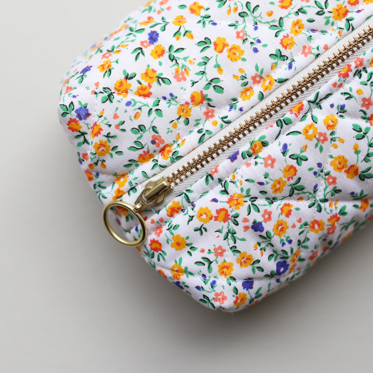 MAKEUP BAG // ORANGE FLOWERS