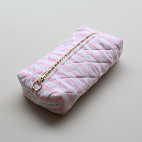 UTILITY BAG // PINK STRIPES