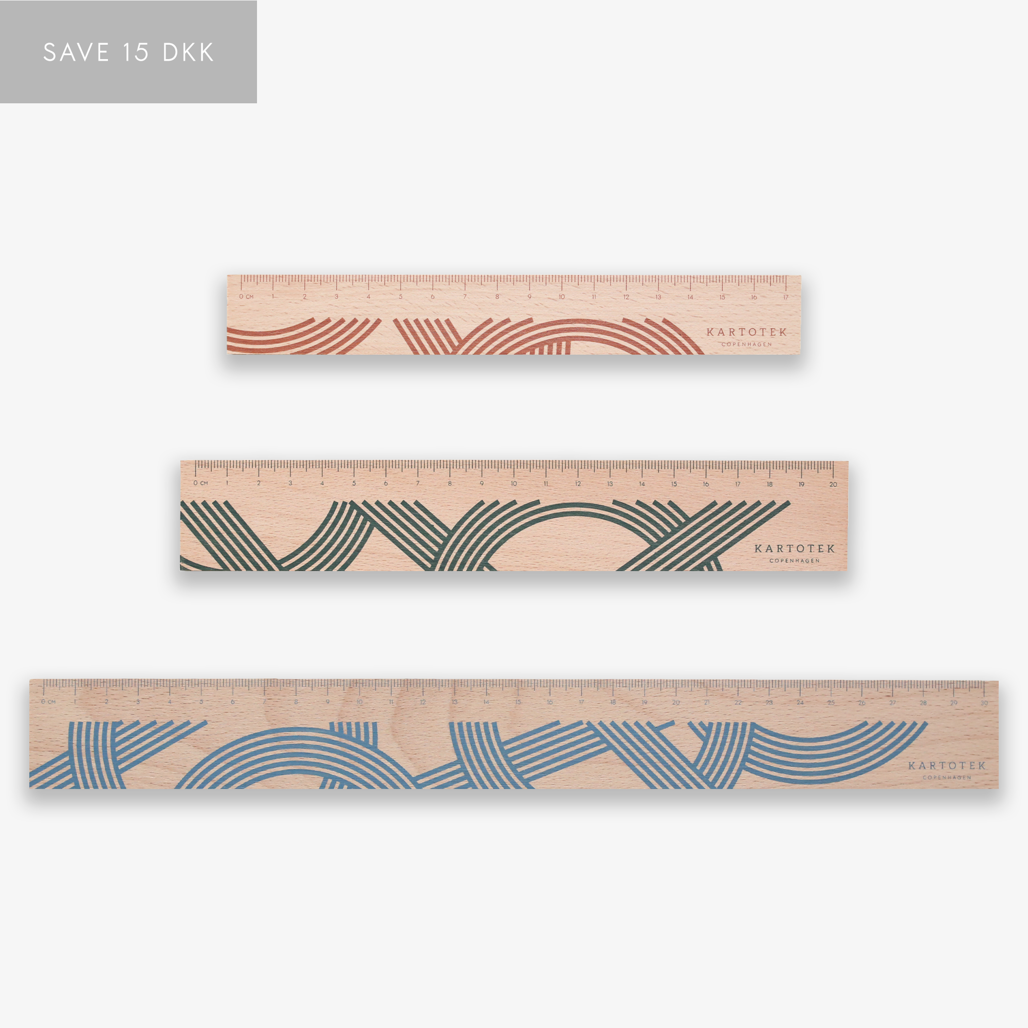 WOODEN RULER SET // 3 PCS