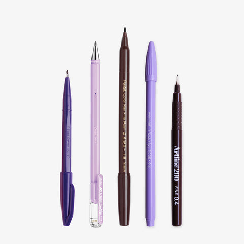 WRITE & SKETCH SET // LILAC & BROWN