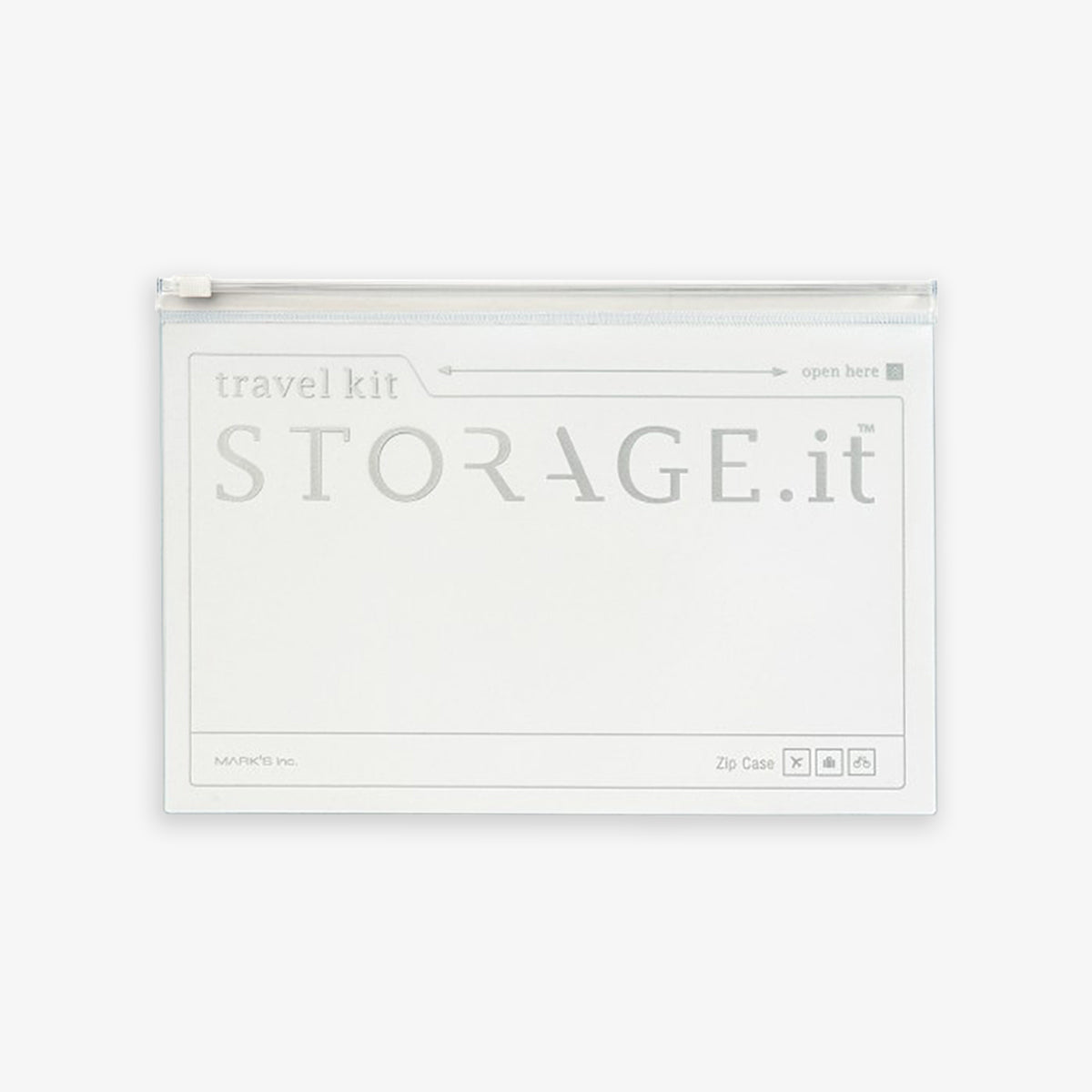 ZIP CASE WHITE // STORAGE IT