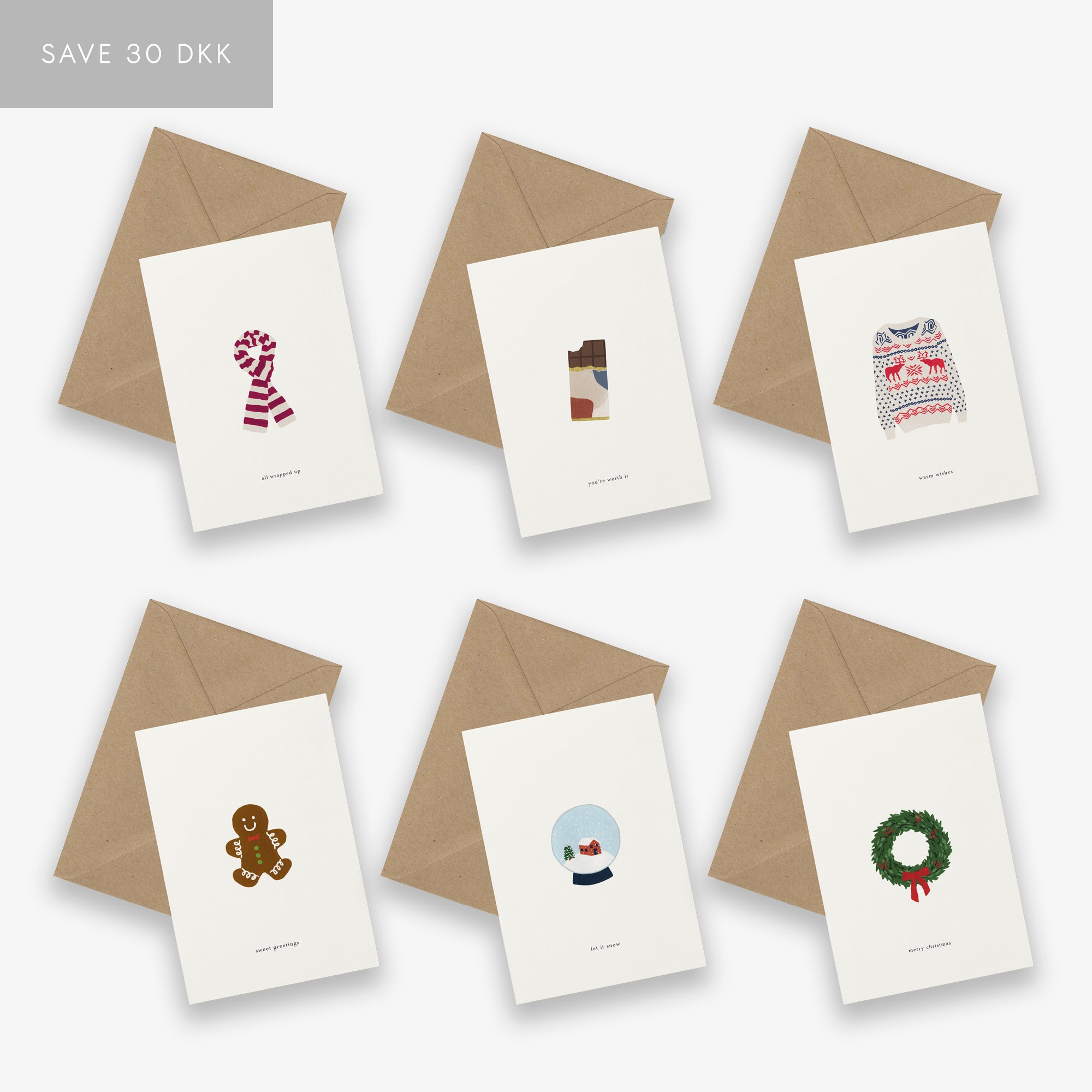 GREETING CARD SET / CHRISTMAS TWO