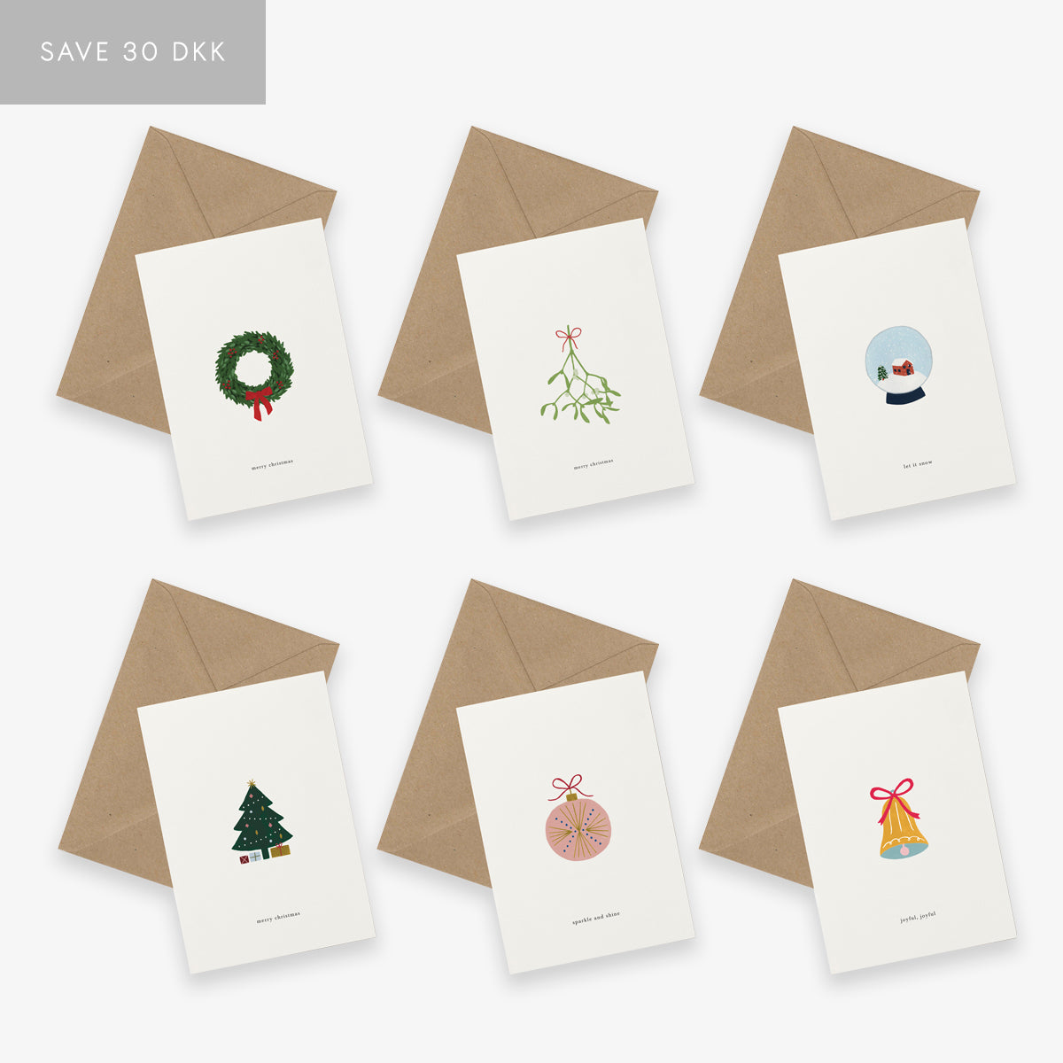 GREETING CARD SET // CHRISTMAS TWO