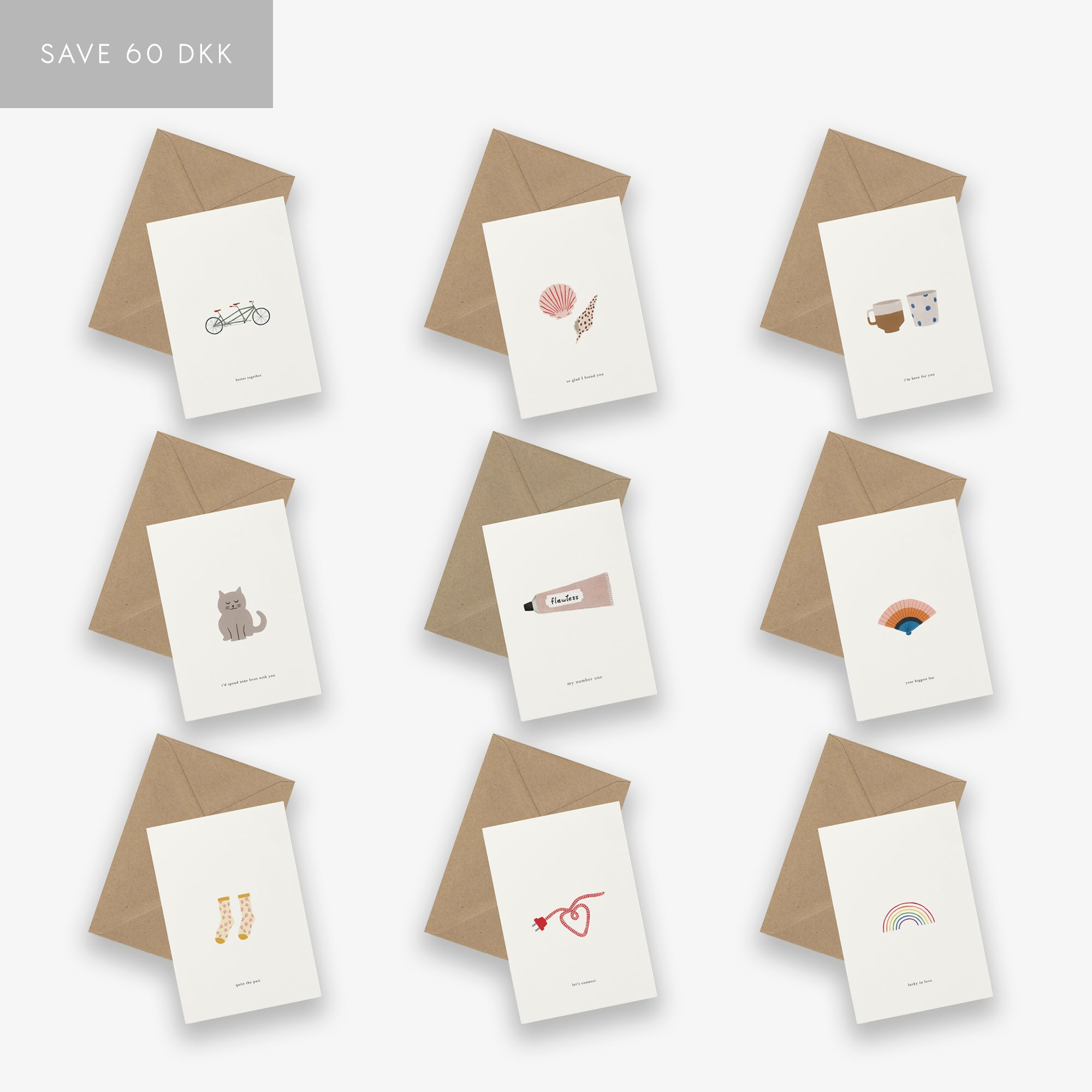 GREETING CARD SET // LOVE & FRIENDSHIP