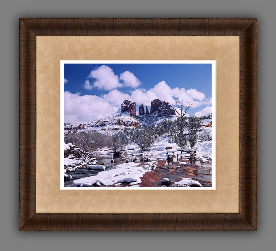 Cathedral Rock In Snow