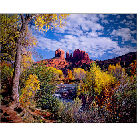 Cathedral Rock In Fall