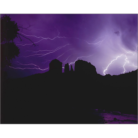 Lightning Over Cathedral Rock