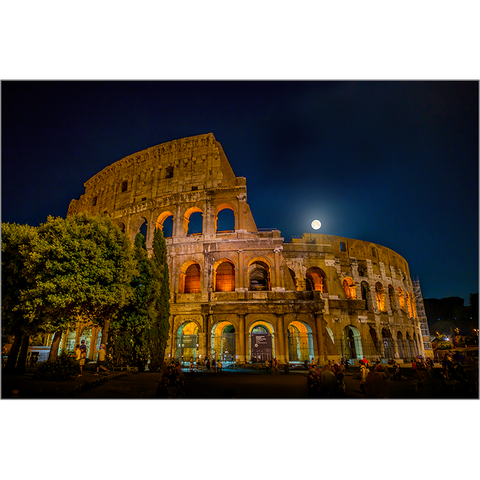 Moonrise Over The Colosseum