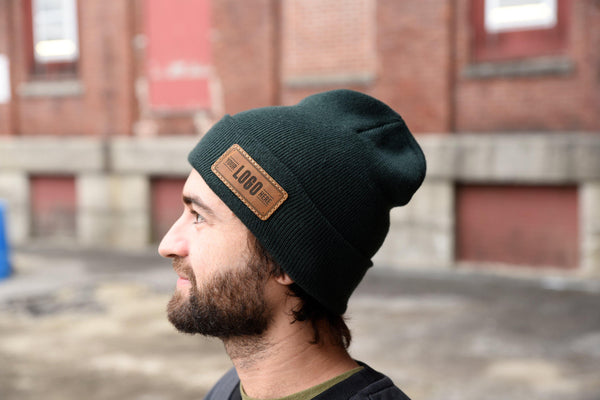 Richardson Custom Leather Patch Beanie