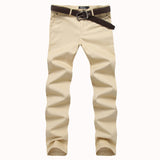 Chino Pants 2016 Men's Casual Slim Fit Khaki Joggers
