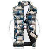 Camouflage Vest Winter Sleeveless - Men's Slim Camo Bomber Vest