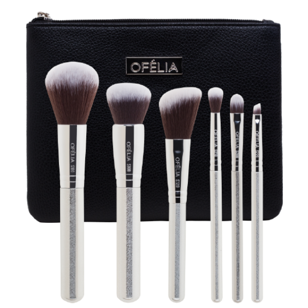 SILVER ESSENTIAL BRUSH SET - OFELIA COSMETICS