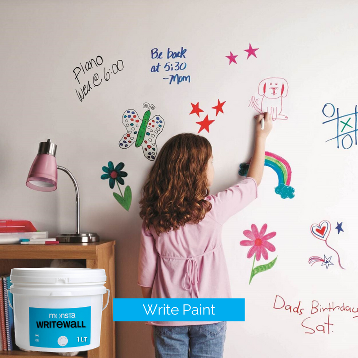 Monsta Write Paint - Turn your wall into a whiteboard