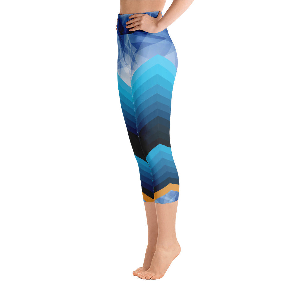b06d4c43717bf Blue Diamond Arrow Yoga Capri Leggings – Export LA