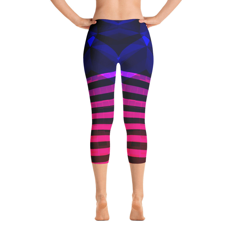a26c9a8af1ee7 Abstract Blue Purple Capri Leggings – Export LA