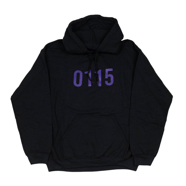0115 Records - Hoodies - 0115 Hoodie (Black/Purpz)