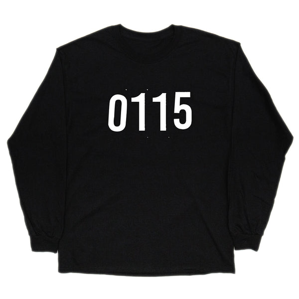 0115 Records - T-Shirts - 0115 Long Sleeve T-shirt (Black)