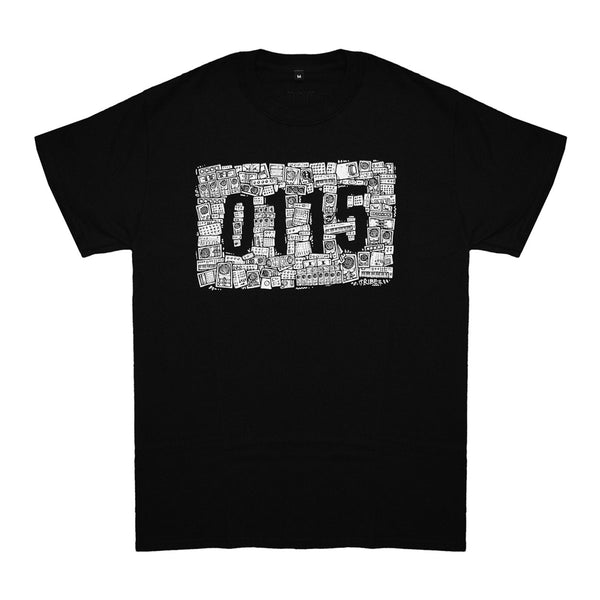 0115 Records - T-Shirts - 0115 x The Tribes T-shirt (Black)