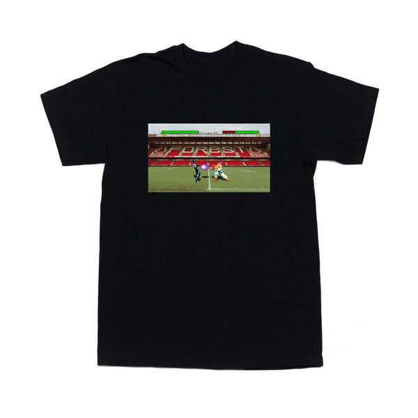 0115 Records - T-Shirts - 0115 x Olive Quarter - City Ground T-shirt (Black)