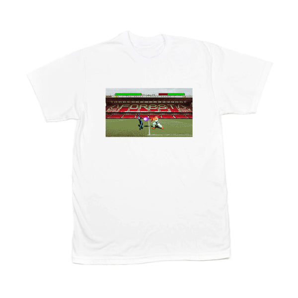 0115 Records - T-Shirts - 0115 x Olive Quarter - City Ground T-shirt (White)