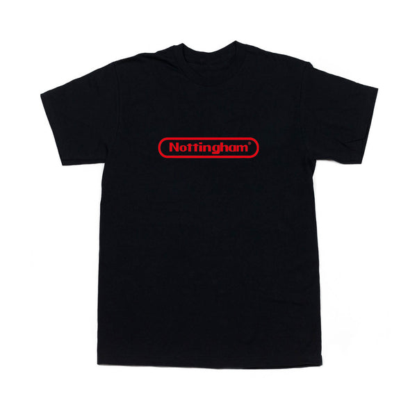 0115 Records - T-Shirts - Nottstendo T-shirt (Black/Red)