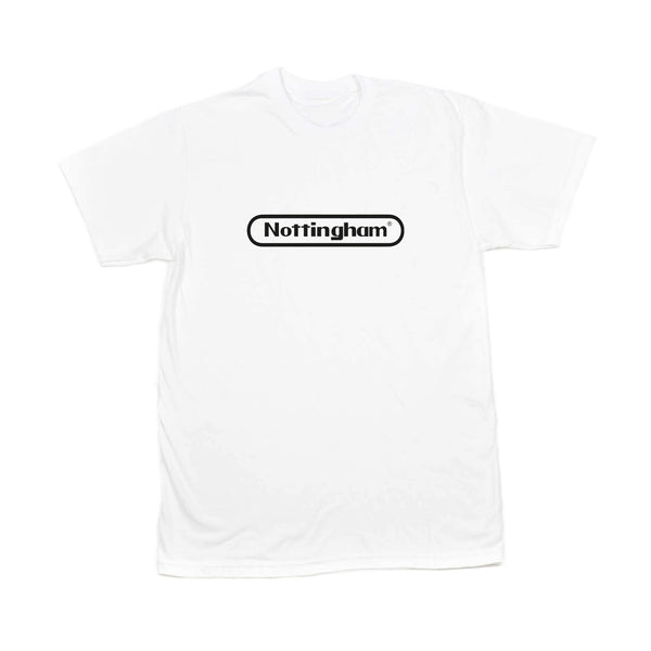 0115 Records - T-Shirts - Nottstendo T-shirt (White/Black)