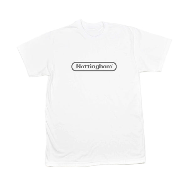 0115 Records - T-Shirts - Nottstendo T-shirt (White/Grey)