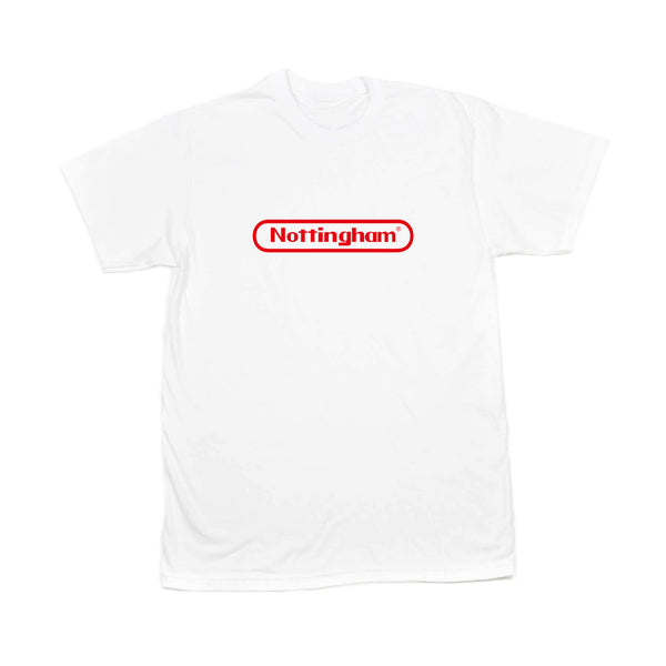 0115 Records - T-Shirts - Nottstendo T-shirt (White/Red)