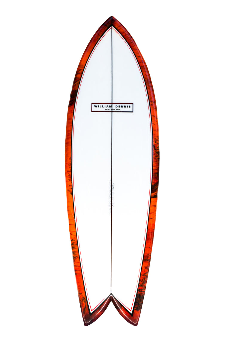 "William Dennis Custom ""70's Fish"" Short Board"