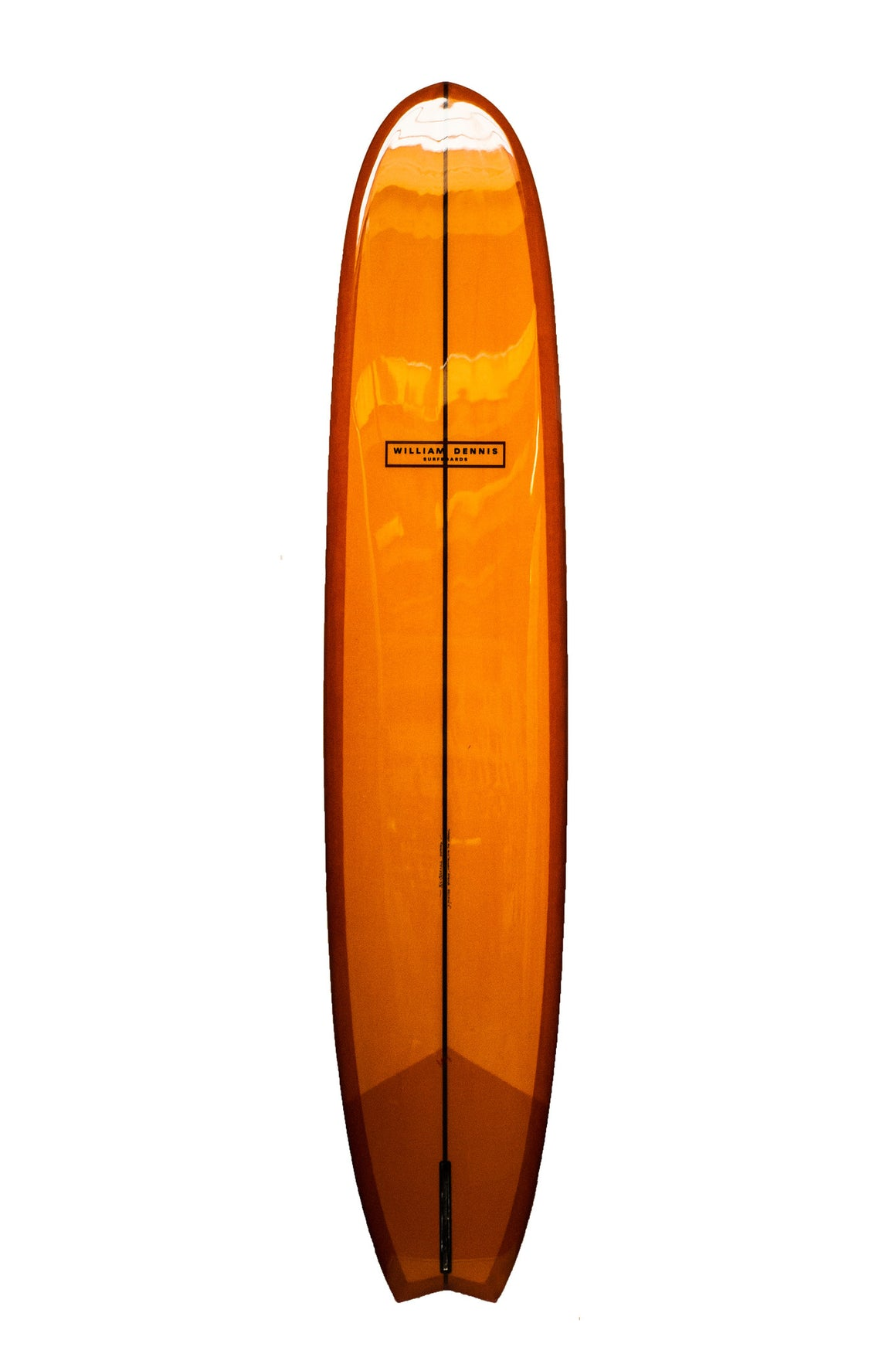 "William Dennis Custom ""Red Fin V"" Longboard - Ventura Surf Shop"