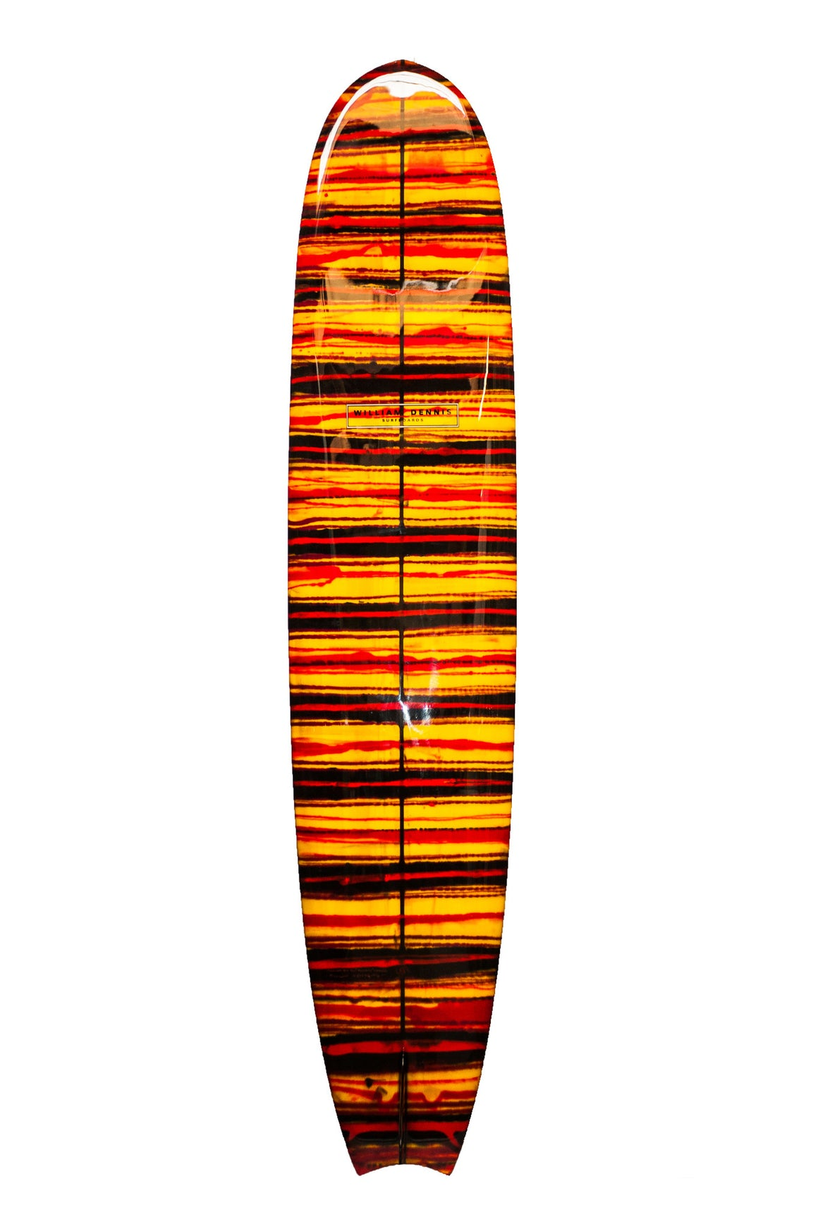 "William Dennis Custom ""Tail Fin"" Nose-rider Longboard Surfboard - Ventura Surf Shop"