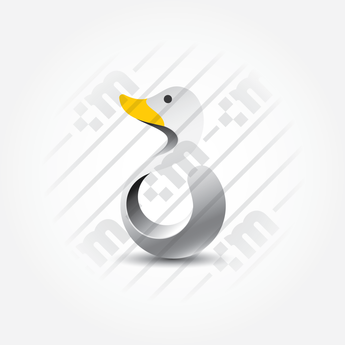 3D Logo Design Duck Golden Ratio - Clever Mark Store