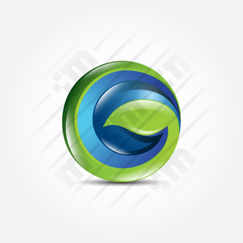 3D Logo Design Green Tech - Clever Mark Store