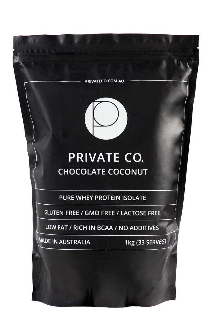 PRIVATE CO. CHOCOLATE COCONUT WHEY PROTEIN ISOLATE