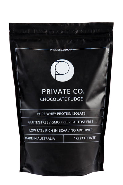 PRIVATE CO. CHOCOLATE FUDGE WHEY PROTEIN ISOLATE