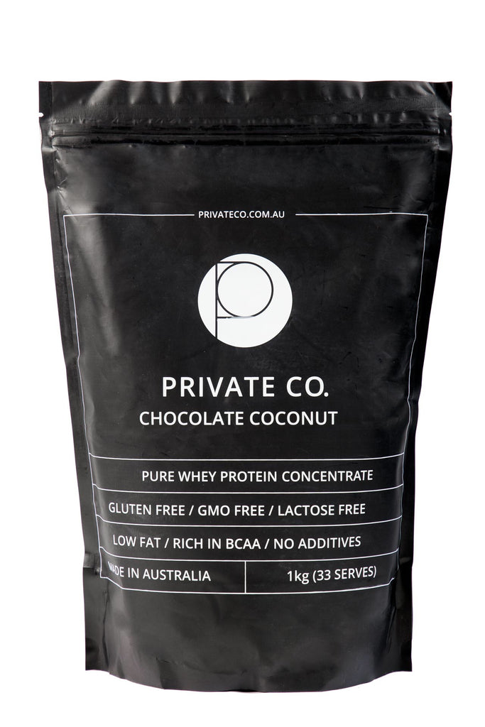 PRIVATE CO. CHOCOLATE COCONUT WHEY PROTEIN CONCENTRATE